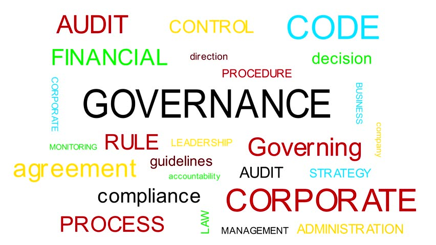 Governance Words Cloud Animation Set.  White and black background. 4 k resolution. Royalty-Free Stock Footage #1006698109