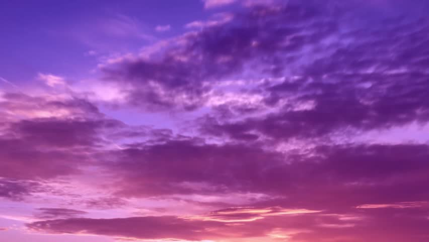 Sunset purple time lapse clouds, fast move in evening time, very beautiful real clourful weather, rain, storm day. Orange, red, yellow, trutty, puffy, fluffy. FHD. #1006706245