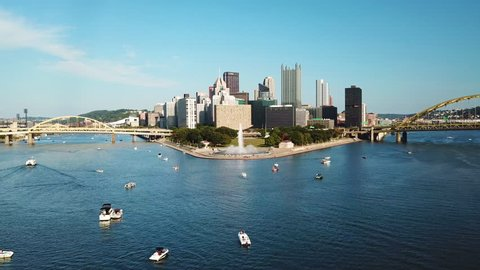 Pittsburgh Skyline Christmas 2021 Pittsburgh Skyline Stock Video Footage 4k And Hd Video Clips Shutterstock