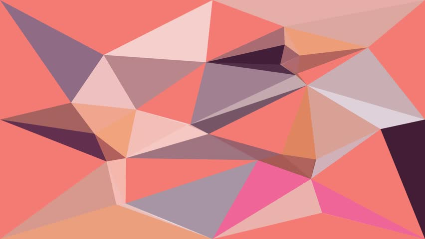Bright low polygon triangle faceted, mosaic digital screen background with almond beige  multicolor random changing pattern for modern or retro animated backdrop in HD 1080p high definition video. | Shutterstock HD Video #1006760170