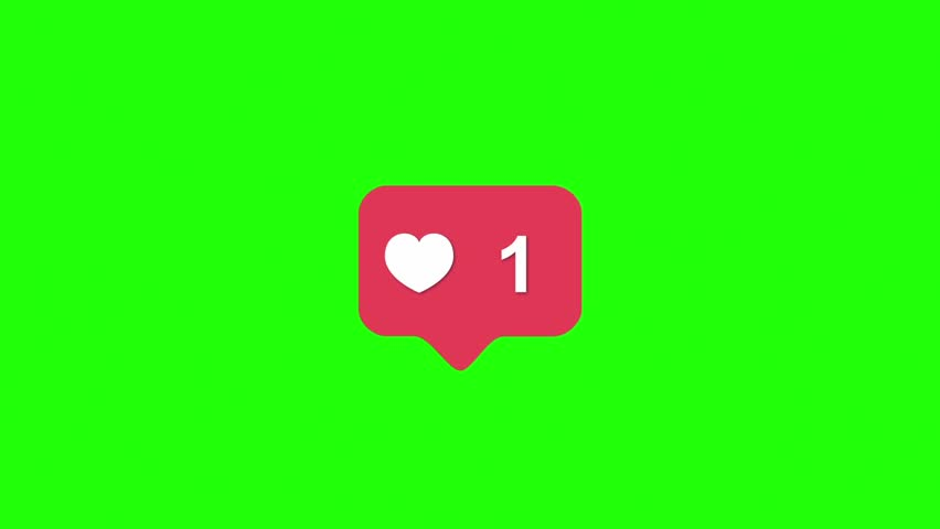 Instagram Red Icon Like Counter Notification Green Screen 3D Rendering Animation | Shutterstock HD Video #1006852033