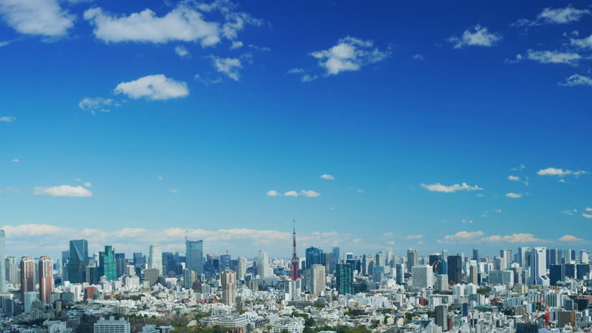 Tokyo landscape Timelapse spring | Shutterstock HD Video #1006862611
