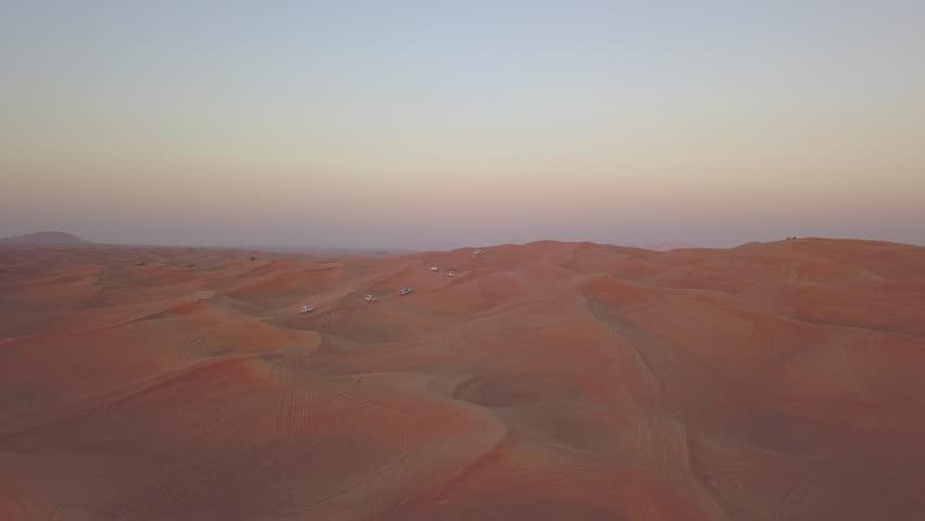 Aerial Shot Of Desert Buggys #1006873285