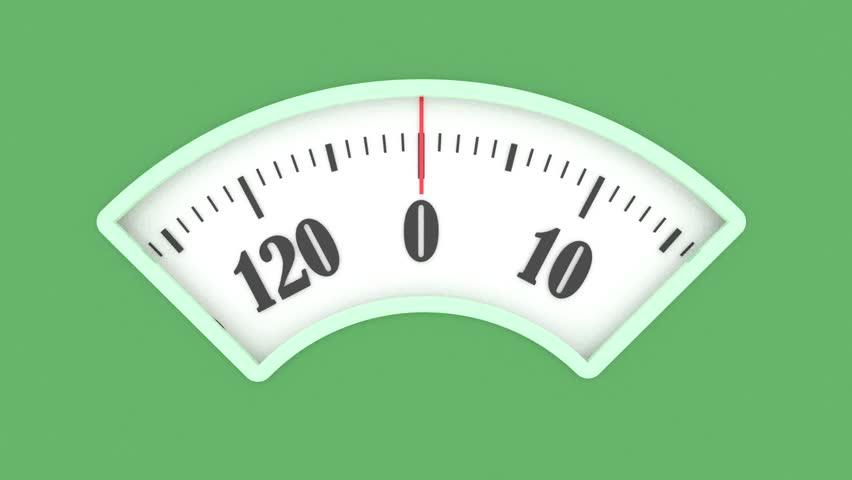 Bath scale dial. Measurement instrument in kilogram for a diet control.