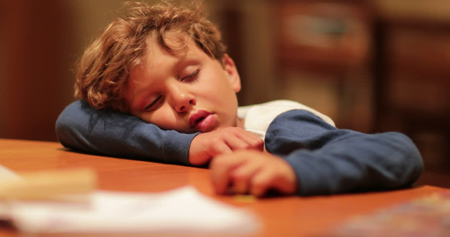 Tired Child Fell Asleep with Stock Footage Video (100% Royalty-free)  1006934482 | Shutterstock