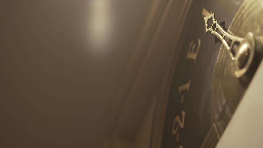 Old Retro Elevator Display With Golden Arrow   Shutterstock HD Video #1006938811