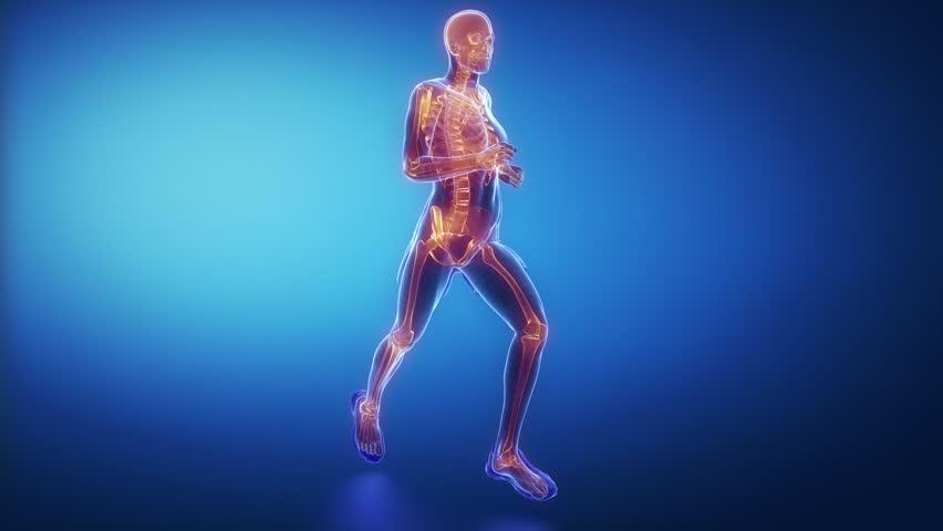 Running man skeleton scan