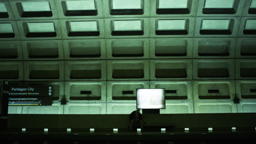 Man Waiting at Washington DC Metro Stop | Shutterstock HD Video #1006985116