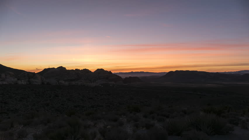 Sunrise time lapse view towards Calico Rocks at Red Rock Canyon National Conservation area near Las Vegas Nevada.  | Shutterstock HD Video #1006989736