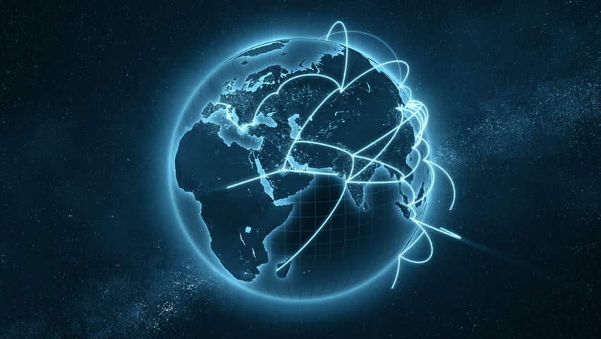 3d animation of a growing network across the world. Seamless loop. Abstract global business network concept. New and improved 4K blue and orange version  | Shutterstock HD Video #1007002411
