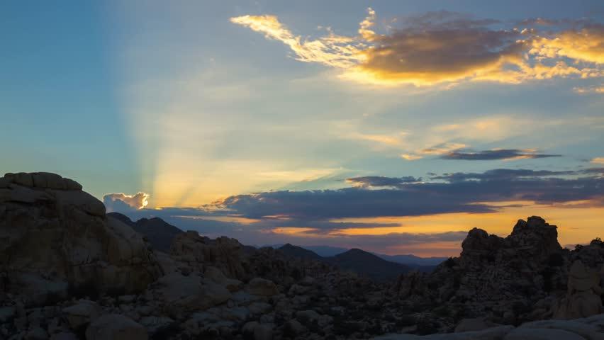 Sunset at Joshua Tree, California.