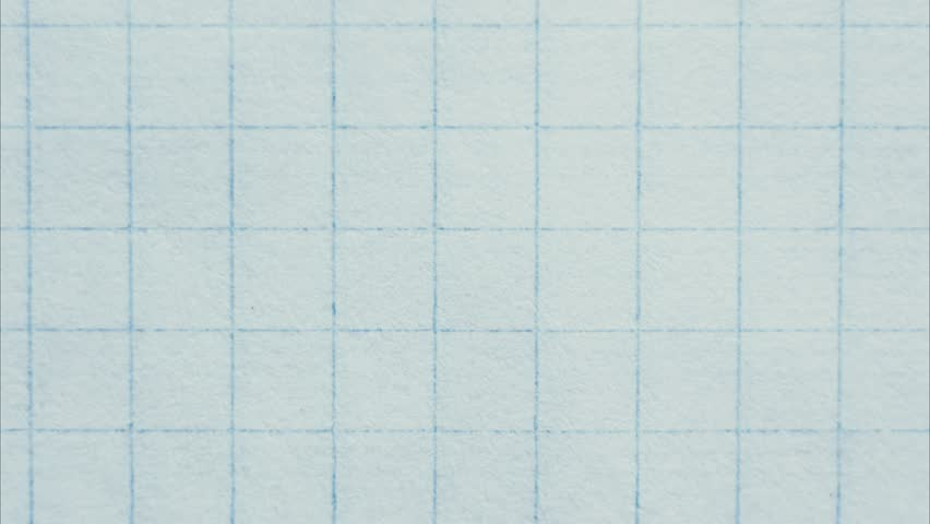 grid paper - stop motion animation. blank empty notebook top view.
