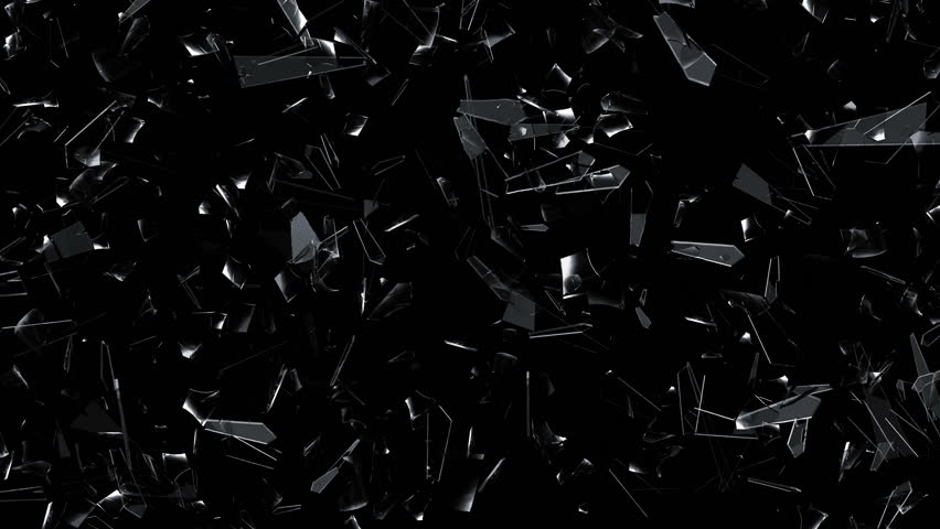 3D animation of broken glass shattering and exploding into shards.   Shutterstock HD Video #1007056105