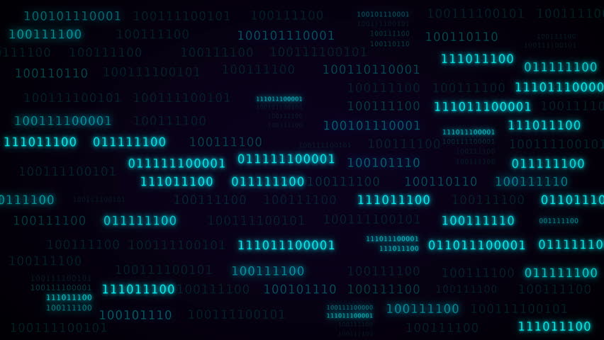 A binary data highway background. Technologic background with representation of binary code. Animation of seamless loop.   Shutterstock HD Video #1007090251