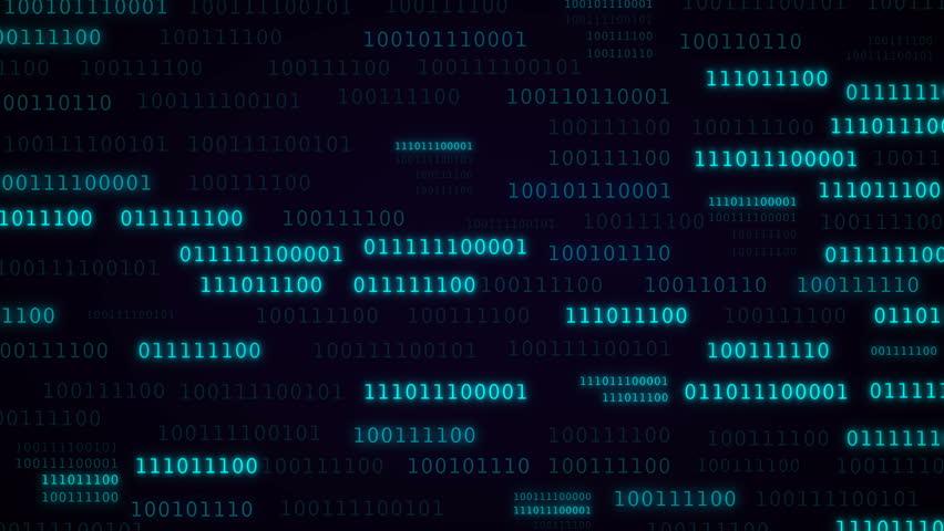 Animation of binary code in blue color. Glitch effect. Concept development.    Shutterstock HD Video #1007090254