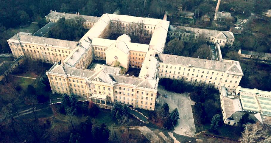 Spooky abandoned psychiatric hospital   Shutterstock HD Video #1007090515