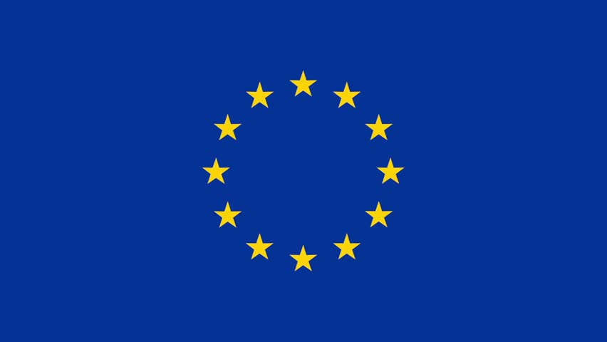 The EU flag of two layers of stars that rotate in a different direction #1007096995