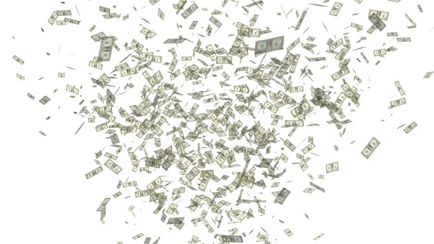 Video celebration throwing dollars on white background   Shutterstock HD Video #1007112088