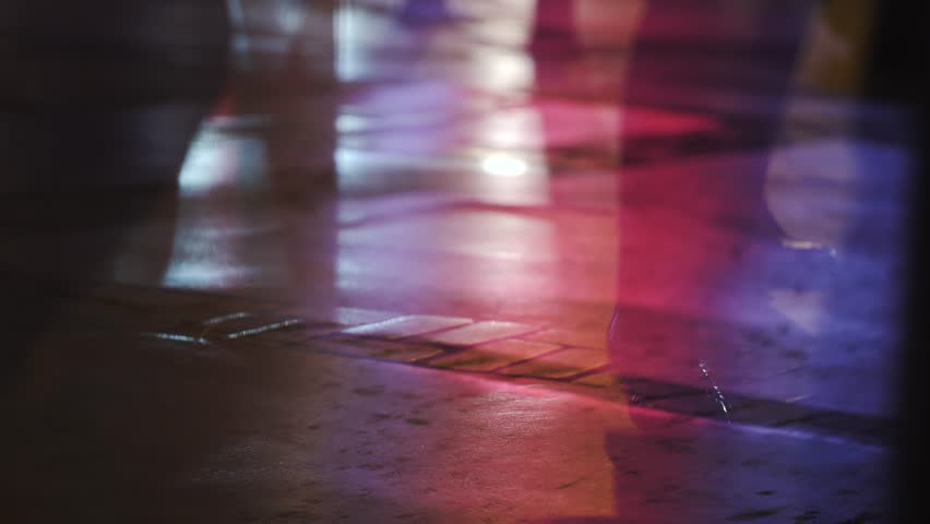People walking defocused lights | Shutterstock HD Video #1007114239