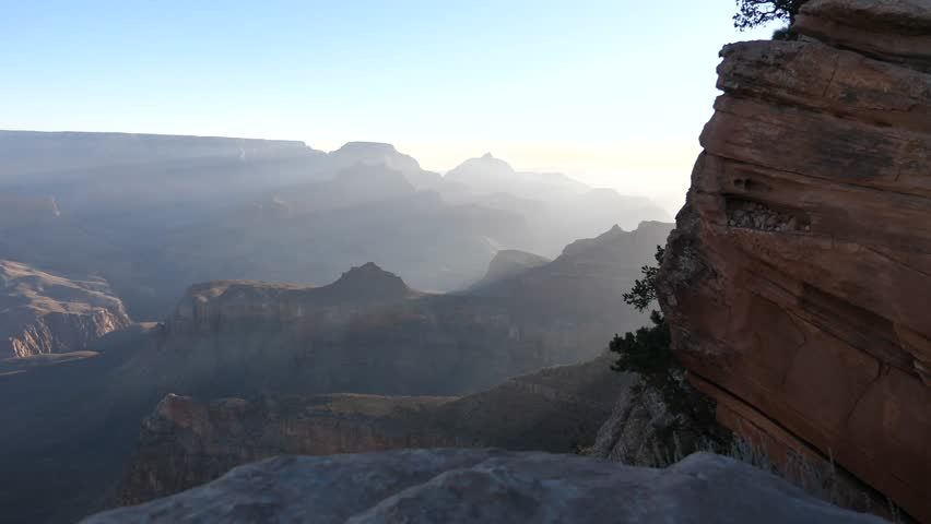 Sunrise View From The Ooh Aah Point at Grand Canyon