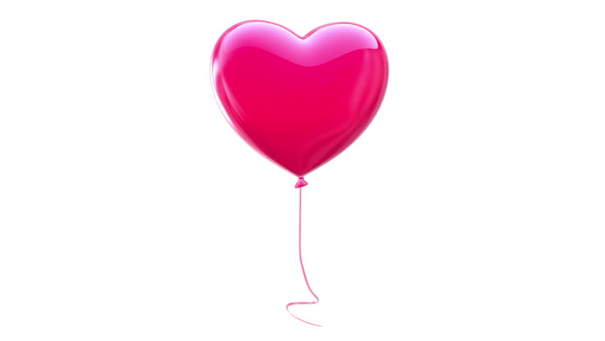 Happy Valentine's day balloon Love heart on clean white background, alpha matte include, loop. Best template for design.  | Shutterstock HD Video #1007140525