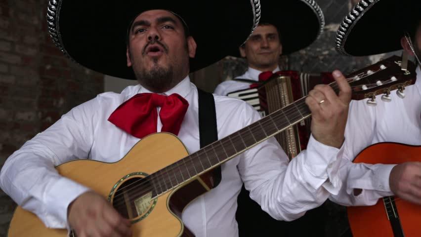 Mexican musician mariachi playing serenade