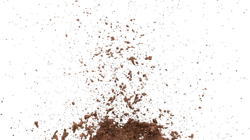 Hot chocolate or cocoa splashes slow motion flow, alpha. 3d render. 3d animation   Shutterstock HD Video #1007172907