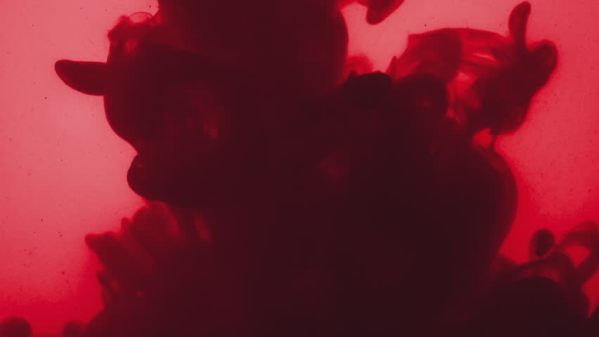 Abstract dark red acrylic paint poured in grungy water | Shutterstock HD Video #1007198884