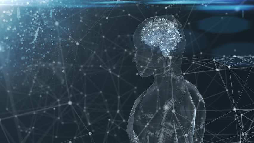 Robotic brain artificial intelligence AI deep learning computer #1007203420