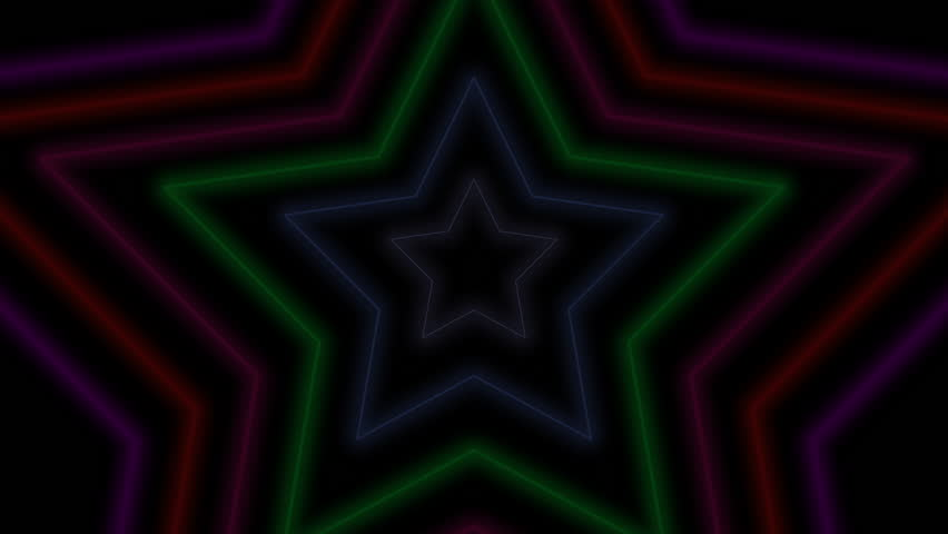 Motion retro stars abstract background. Elegant and luxury dynamic geometric 70s, 80s, 90s Memphis style template in 4k footage. Video format 3840x2160 #1007204494