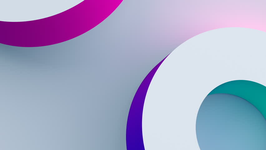 Abstract 3d rendering of rotating geometric shapes. Computer generated loop animation. Modern colorful background. Seamless motion design for poster, cover, branding, banner, placard. 4k UHD | Shutterstock HD Video #1007218351