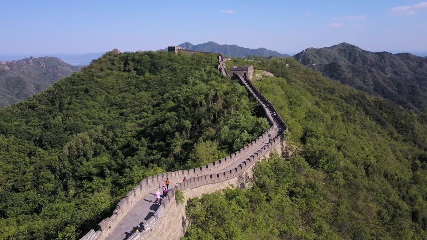 China Great Wall Aerial v2 Flying low besides famous structure 5/17