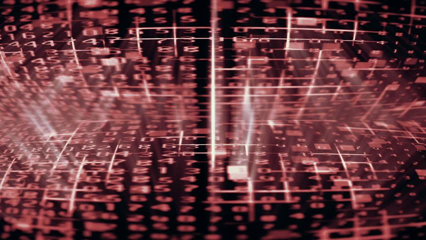 Streaming digital data forms flicker and shift (Loop). | Shutterstock HD Video #1007245531