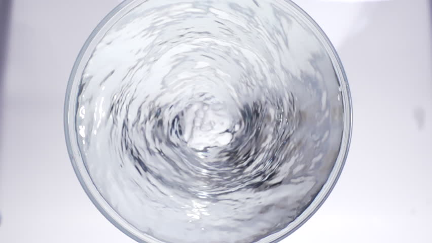 Pure water Swirl in glass, high speed