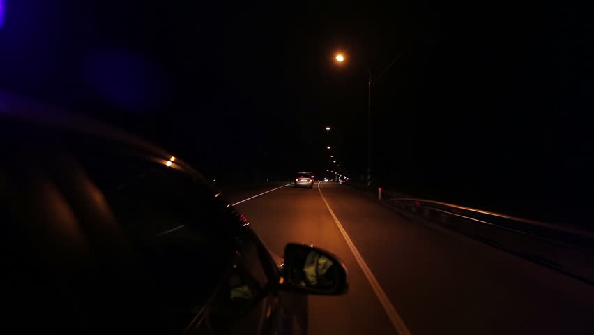 High speed police pursuit on freeway at night | Shutterstock HD Video #1007322952