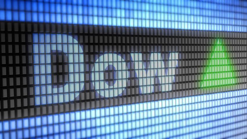 The Dow Jones Industrial Average. Up. Looping. | Shutterstock HD Video #1007334193