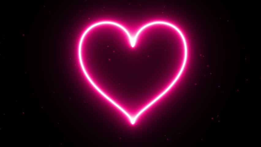 4K Animation appearance pink Heart energy shape flame or burn on the dark background and fire spark. Motion graphic and animation background. | Shutterstock HD Video #1007335225