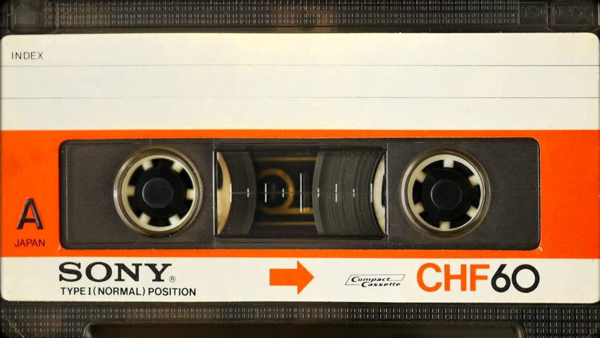 ISTANBUL, CIRCA 1980s: Vintage Sony CHF 60 minute Type 1 Audio Cassette Tape. In 1966, Sony and other Japanese manufacturers began mass production of self contained cassette tapes