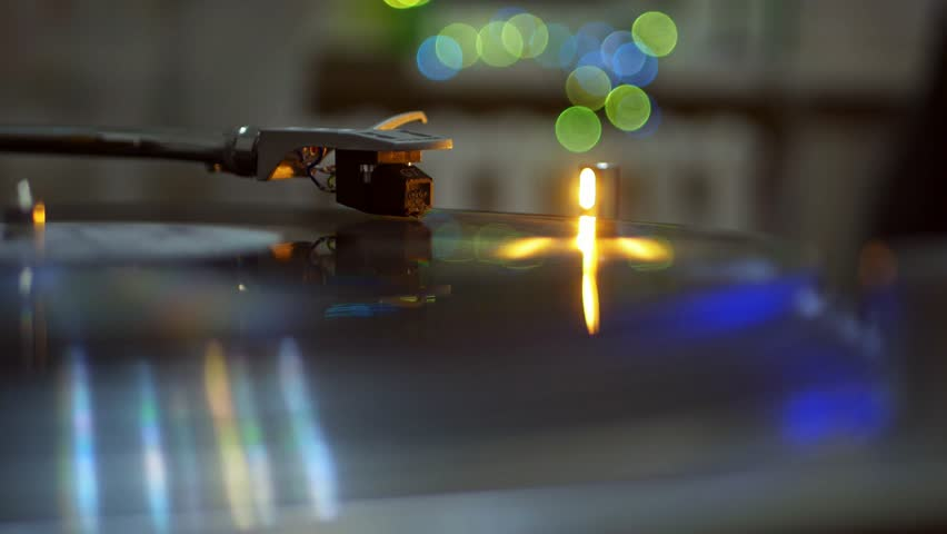 Vintage gramophone playing a vinyl record close up shot  | Shutterstock HD Video #1007428108