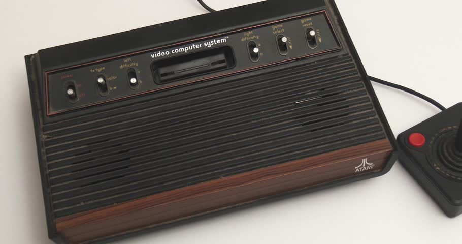 February 11, 2018, Bettendorf, Iowa, Atari 2600 Video Game System - Wide Pan