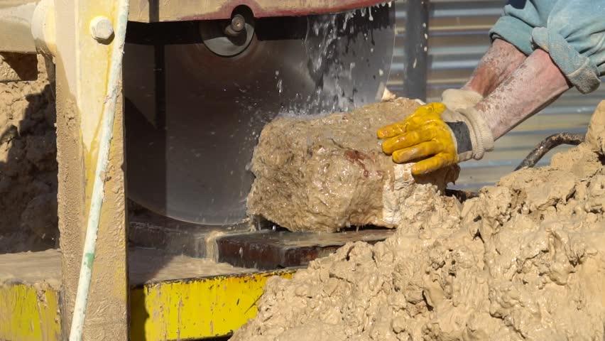 Cutting stone with water jet cutting machine   Shutterstock HD Video #1007472433