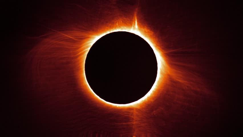 Solar eclipse timelapse.