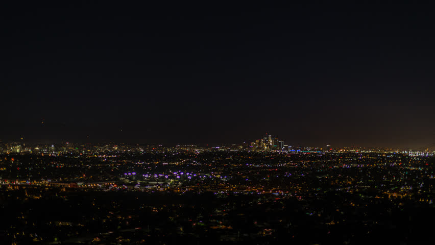 Time lapse of super moon rise over downtown los angeles | Shutterstock HD Video #1007501968