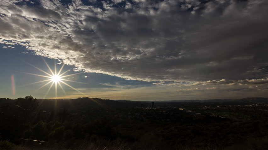 Sunset time lapse over looking san fernando valley in los angeles | Shutterstock HD Video #1007502034