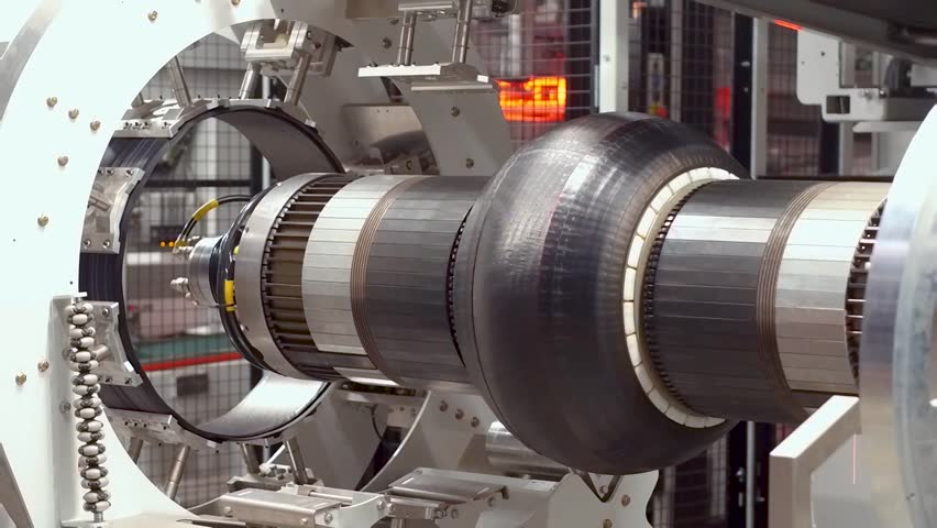 Car tires automatic building machine in process of tire forming | Shutterstock HD Video #1007537047