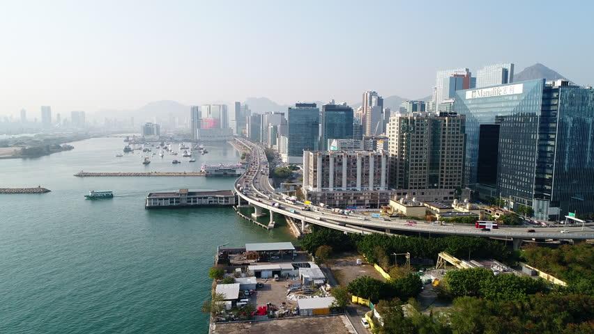 Hong Kong,16-February 2018,Aerial view of Kwun Tong Kowloon, Hong Kong