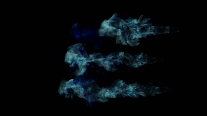 Abstract Blue Fire on a black background with Alpha channel. 3d render. voxel graphics. computer simulation  #1007559160