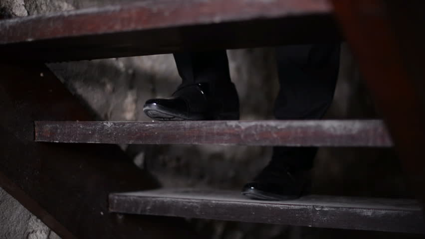 The groom going up the stairs, slow motion   Shutterstock HD Video #1007616073