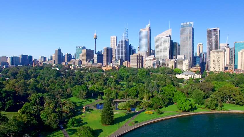 Beautiful aerial view of Sydney skyline, Australia.   Shutterstock HD Video #1007626480