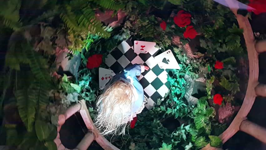 Alice in wonderland spinning concept